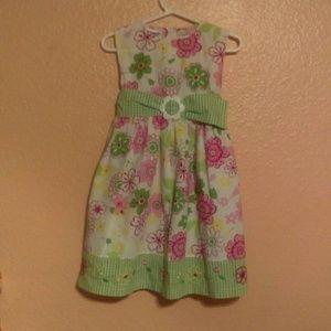 Blueberi Boulevard floral dress with gingham belt